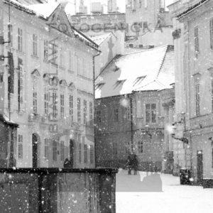 Bratislava. Františkánske námestie v zime