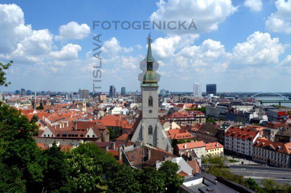 Bratislava. Staré mesto z Hradu.