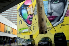 Bratislavská sedma – tridsiata siedma. Rajská ulica, streetart. Foto: Hana Fábry 2017