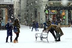 Zimný pozdrav z Bratislavy.