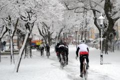 Zimná jazda mestom